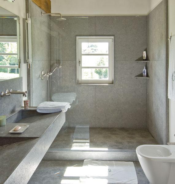 cabine de douche en pierre marbri re marbrerie retegui. Black Bedroom Furniture Sets. Home Design Ideas